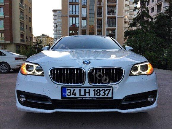 SONGURLAR-2014 BMW 5.20İ COMFORT 68.000KM BEYAZ BOYASIZ TAKAS